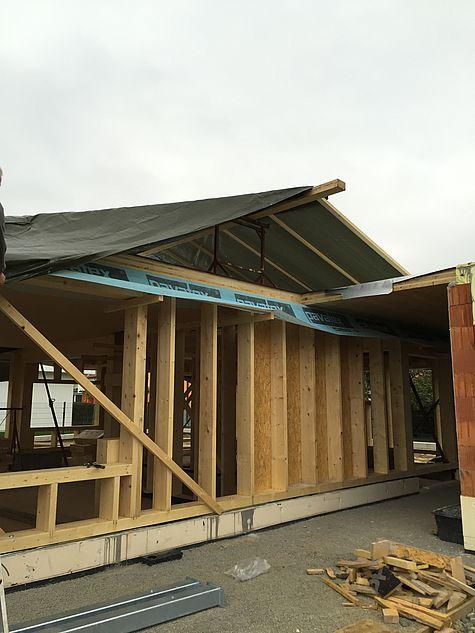 Holzriegelbau Einfamlienhaus